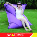Large cozy bean bag cushion bed in outdoor