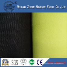 Tissu non-tissé jaune de 100% pp pour des sacs à provisions / sacs de cadeaux
