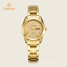 Relógio de quartzo de senhoras clássico com faixa de aço inoxidável 71122