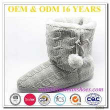 Fuzzy tobillo baratos botas de invierno lindo para las mujeres