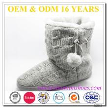 Fuzzy tornozelo barato botas de inverno bonito para as mulheres