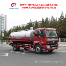FOTON 4X2 10000L water supply tanker truck for sale