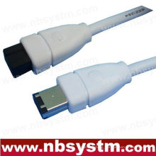 6 FT 9 to 6 PIN IEEE1394B 6' FIREWIRE 800 400 CABLE