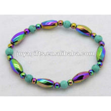 Rainbow Magnetic Hematite Turquoise Bracelets