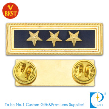 China Officer Police Badge with Gold Plating From China