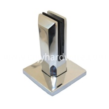 Fence glass spigot for stair glass guardrail