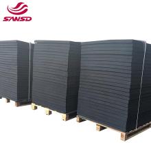 Factory direct High elasticity black color form shape rubber epdm sheet