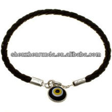 China supplier black leather necklace with circle pendant,fashion necklace 2014