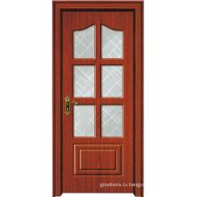 Деревянная дверь со стеклом (WX-PW-174)