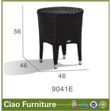 Черный цвет PE ротанга приставной столик