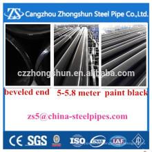 """Tubo de acero sin costura 6 """"* sch40 tubería de acero al carbono"""
