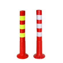Hot Selling Highly Visible Reflective Traffic Safety Warming Flexible Plastic Bollard Delineator, Plastic Bollard Warning Post/