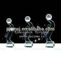 Baixo preço garantido qualidade cristal prêmios prêmios bola troféu atacado