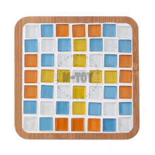 Kit de mosaico de vidrio de posavasos cuadrados