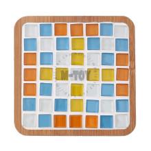 Kit de Mosaico de Vidro para Coaster Quadrado