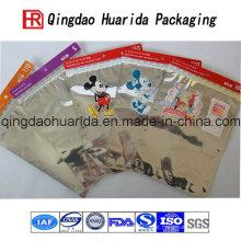 Alumínio de vestuário com saco de roupas com zíper