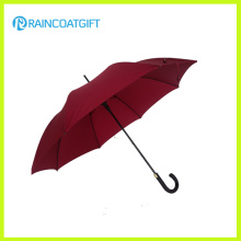 Paraguas recto de la manija de la capilla de la fibra de vidrio de 23inch * 8k