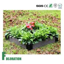 Belo jardim cozinha - plantador de camas levantadas WPC preto