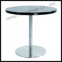 Elegante mesa de comedor de color negro ronda MDF (SP-GT158)