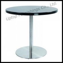 Table de salle à manger ronde en MDF à carreaux noirs élégants (SP-GT158)