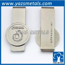 personalize clipe de dinheiro, com logotipo de design