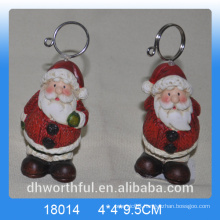 Christmas gift ceramic hanging ornament with santa figurine