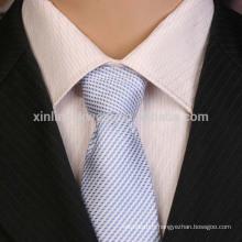 Cravate tissée par microfibre de polyester de noeud parfait fait main de 100%