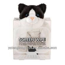 Divertido animal en forma de pantalla limpiador de peluche gato pantalla limpiadora