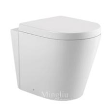 New design luxury ceramic washdown flushing wc wall hung toilet with bidet