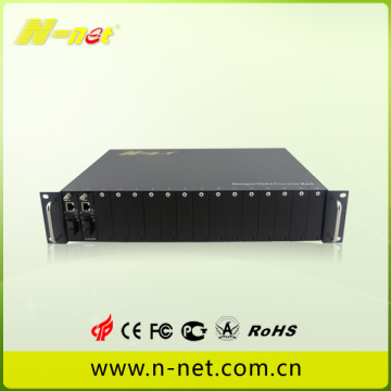 slot per chassis in fibra di media converter 16