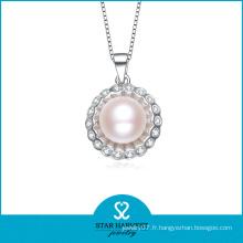 Ensemble de collier de perles en argent 925