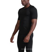 Schnelltrocknende Shot Sleeve Compression Herren T-Shirts