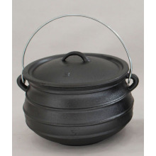 waxed Flat Cast Iron Potjie