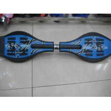 Волновой скейтборд, 2-колесный скейтборд со змеиным покрытием, ABS / PP (ET-Sk2801)