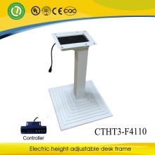 Pé de mesa / mesa de metal regulável em altura com 3 colunas e pé de mesa ajustável em altura elétrica
