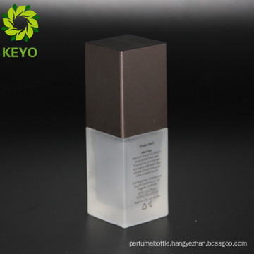 glass pump square essential oil bottle for cosmetic