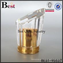 Nuevo diseño de perfume de lujo con tapa de oro, fundas de perfume de alta calidad