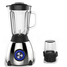 colorful multifunction juicer with light glass jar