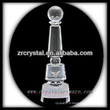design attrayant blanc trophée de cristal X072