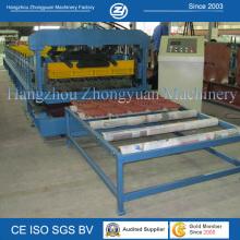 Machine de formage de rouleaux de toiles en acier ISO Steel Roof