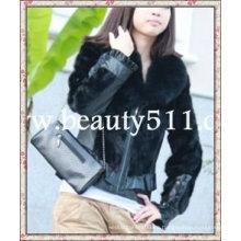 Fah005 OEM venta al por mayor de piel de prendas de vestir de piel de ropa de conejo de piel de visón de pieles chaqueta de pieles de ropa