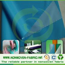 Tissu non tissé laminé (PP + PE) Spunbond