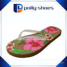 New Ladies′ Floral Print Beach Flip Flop Sandals Size 36