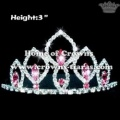 Heart Shaped Princess Tiaras with Pink Diamond