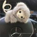 New Stylish Real Mink Fur Monkey Keychain Cartoon Fur Bag Charms