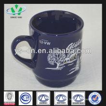 m042 Snowscape Pattern Ceramic Christmas Mug