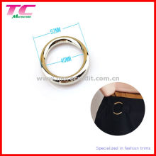 Fivela de anel de metal para o vestido