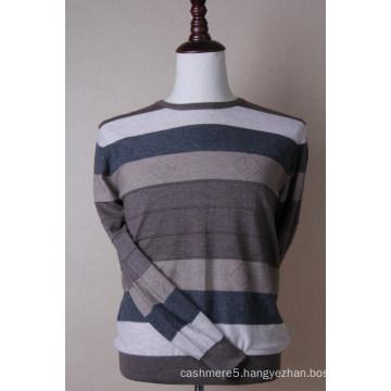 Color Striped Cashmere Pullover Men