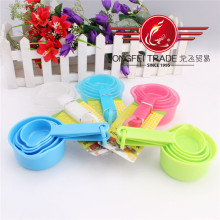 5 PCS Colored Plastic Measuring Cup and Spoon Set