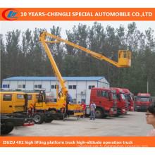 Camion d'opération de haute altitude de 6wheels, camion de plate-forme de levage élevé